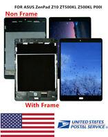 FIT For Verizon ASUS ZenPad Z10 P00I ZT500KL LCD Screen Touch Digitizer  ± Frame