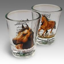 #8310 - AMERICAN EXPEDITION MUSTANG SHOT GLASSES GIFT SET OF 2 - WOW!