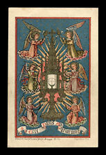 old holy card litho ECCE PANIS ANGELORUM 19 Th.