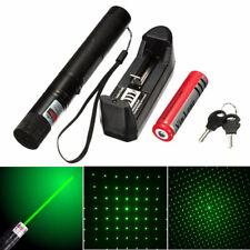 Grün Laser Pointer Stift Strahl Stern Pen+ Sternkappe + Akku + EU Ladegerät DHL