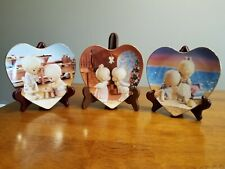 Precious Moments Words of Love Plate Collection Lot of 3 plates