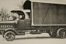 großes Foto Oldtimer LKW Geschlossener Möbelwage vermutlich eine  Reproduktion
