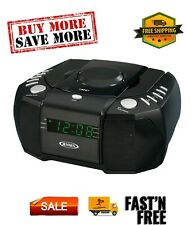 Jcr-310 Dual Alarm Clock Am/Fm Stereo Radio with Top-Loading Cd Player