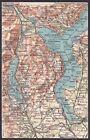 LAGO MAGGIORE LAGO ORTA BORGOMANERO ORNAVASSO ARONA CARTINA topografica ca 1920