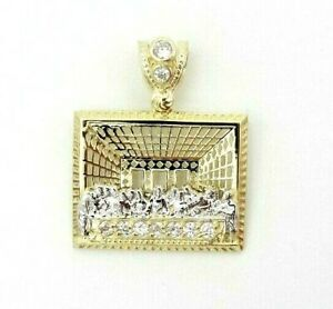 10k Yellow Gold Fine Jewelry Last Supper Jesus Charm