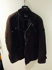 Barbour Mens Duke Wax Jacket Brown Size M