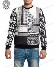 MEN VERSACE MODERN SHIRT T-SHIRT LONG SLEEVE SIZE L BLACK COLOR XMAS SALE
