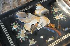 Old Japanese Lacquered Photo Album…  with Shell and Mother of Pearl...