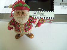"Mary Engelbreit Santa w/ candy canes Ornament Iob 3.5"" 2009"