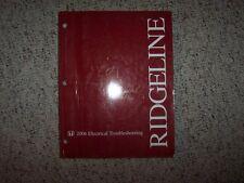 2006 Honda Ridgeline Electrical Wiring Diagram Manual RT RTS RTL