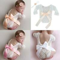 For Newborn Baby Girls Cute Floral Lace Romper Bodysuit Jumpsuit Clothes Outfits