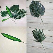 künstliche Monstera Zweig Palm Farn Schildkröte Blatt Faux Laub Blätter Decor~