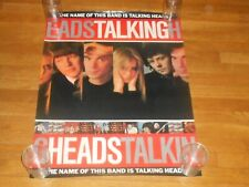 Talking Heads the name of this band is 23 x 30 Promo Poster original 1982 Sire