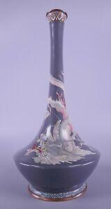Fine Old Japanese Meiji Period Cloisonné Dragon vase