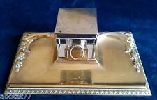 Art Deco style Brass Desk Inkwell