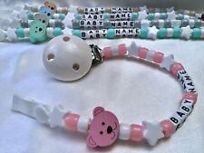 🐻PERSONALISED DUMMY CLIPS 🐻 TEDDY 🐻 Max 10 Letters 🐻 BUY 2 GET 1 FREE 🐻