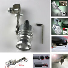 Silver Exhaust Pipe Blowoff Valve Simulator Turbo Sound Whistle For BMW 328 428