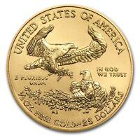 (2) CH/GEM BU 2017 1/2 OZ. $25 AMERICAN EAGLE GOLD UNITED STATES COIN