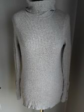 Next Grey Ribbed Poloneck Jumper size 16 Great Condition