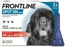 FRONTLINE Spot on Flea and Tick Treatment for Extra Large Dogs 40-60kg - 3 Pipettes