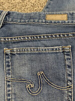 Women's AG ADRIANO GOLDSCHMIED DESIGNER CROP JEANS Size 28 Actual 31X27 Rise 9