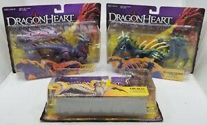 Vintage 1995 Kenner Dragonheart DRAGON Lot (3) Draco, Medusa, & Razorthrorn