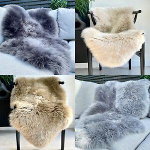 Genuine Real Sheepskin Rug Luxury British Throw Eco Pelt Large 95cm+
