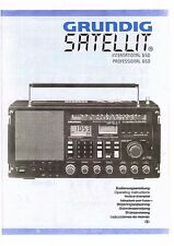 Grundig manuale per satellite International e Professional 650 Engl