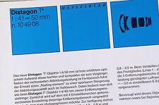 Prospekt: ZEISS Distagon T 4/50mm (Hasselblad)