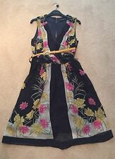 Dorothy Perkins Floral Scarf Print Dress Size 8