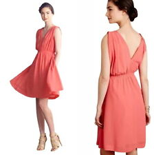 Anthropologie Grecian Goddess Dress 4 Small Pink Fit-Flare ROMANTIC Graceful NWT