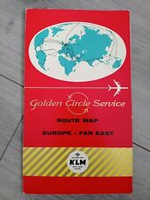 More details for klm fold-out hard backed route map europe / far east