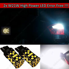 2x T20 W21W Rear LED Canbus REVERSE WHITE Lamps Lights Bulbs Audi A4 A6 S3 S4 S5