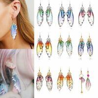 Handmade Wings Earrings Butterfly Drop Dangle Hook Crystal Earrings Wedding Gift