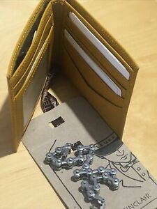 fossil mens wallet and Chrome Bicycle Link Chain Bracelet Both New RRP $145