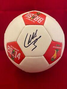 LUIS SUAREZ Signed Autographed Soccer Ball 2014 World Cup Uruguay Beckett BAS