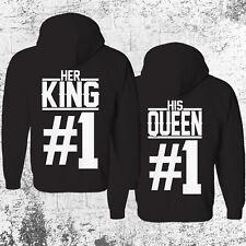 HER KING #1 HIS QUEEN #1 Hoodie SET Pullover Pulli Pärchen Couple Paar Partner