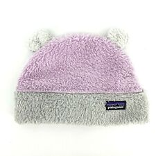 Patagonia Furry Friends Pink Fleece Beanie Hat With Bears Ears Infant Girls 24M