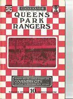 QPR v Coventry City - Div 1 - 1973 - Football Programme