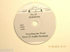 No 33,  Over 35  Audio Sermons, MP3 one CD