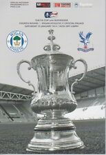 WIGAN v CRYSTAL PALACE 2013/14 FA CUP MINT PROGRAMME MANCHESTER