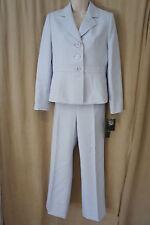 """Le Suit Petite Pant Suit Sz 10P Light Violet Haze """"Luxemburg Gardens"""" Business"""