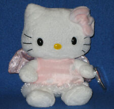 TY HELLO KITTY PINK ANGEL BEANIE BABY - UK EXCLUSIVE - MINT with MINT TAGS