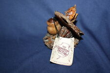 Vintage Handcrafted Gumnut Frog And Lily Pad Chris Trump The Gumnut Factory 1979