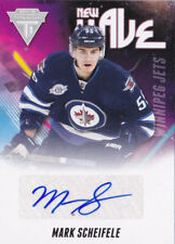 11-12 Titanium Mark Scheifele Auto New Wave Winnipeg Jets 2011