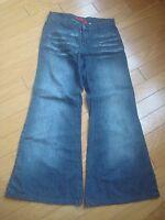 EUC womens Buffalo wide leg black jeans size 27