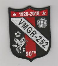 USMC VMGR-252 90TH ANNIVERSARY SQUADRON PATCH WITH VELCO NEW!!!
