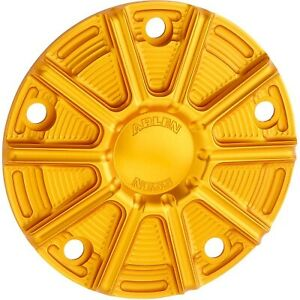 Arlen Ness 700-028 10-Gauge Point Cover Gold Harley Twin Cam 99-17