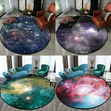 Galaxy Round Rugs Universe Space Carpet Floor Mat for Living Room,kids bedroom
