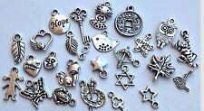 Charms 200pcs Tibetan silver mix assorted lot Jewelry Making supply pendants NEW